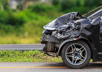 mangled car from car accident in Atlanta, Georgia