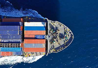 Cargo container ship - maritime accidents