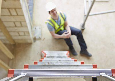 work injury on ladder